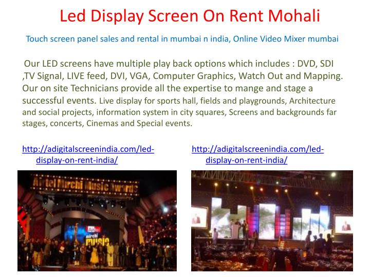 Led Display Screen On Rent