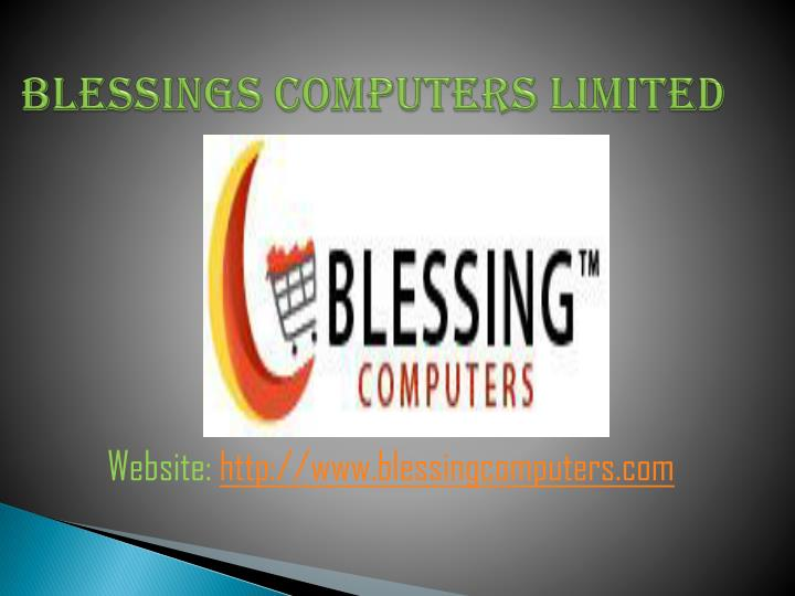 Blessings computers limited