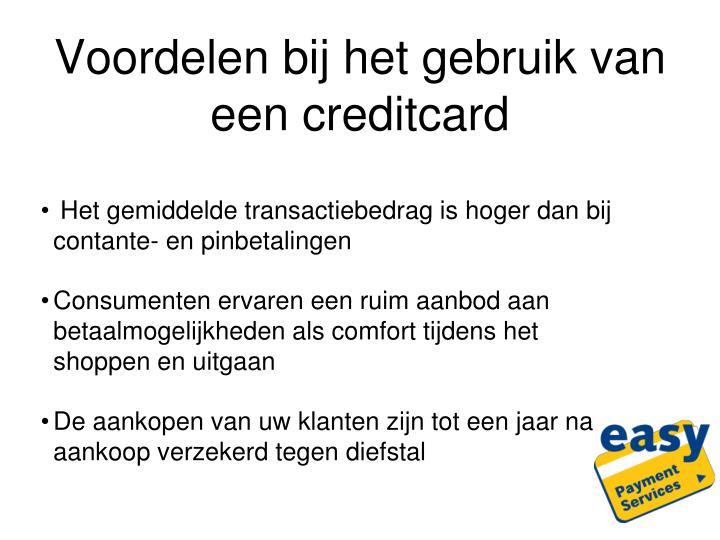 Voordelen bij het gebruik van een creditcard