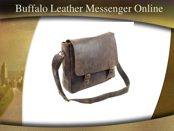 Buffalo leather messenger online