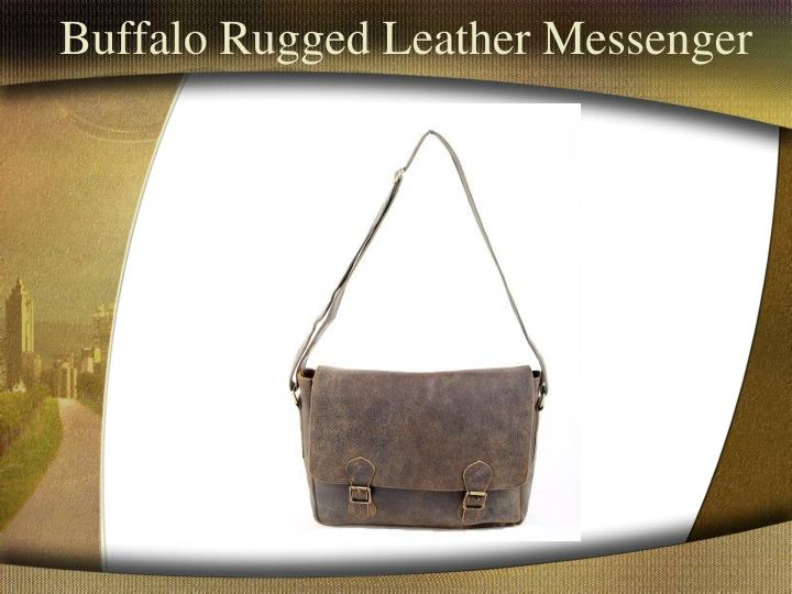 Buffalo Rugged Leather Messenger