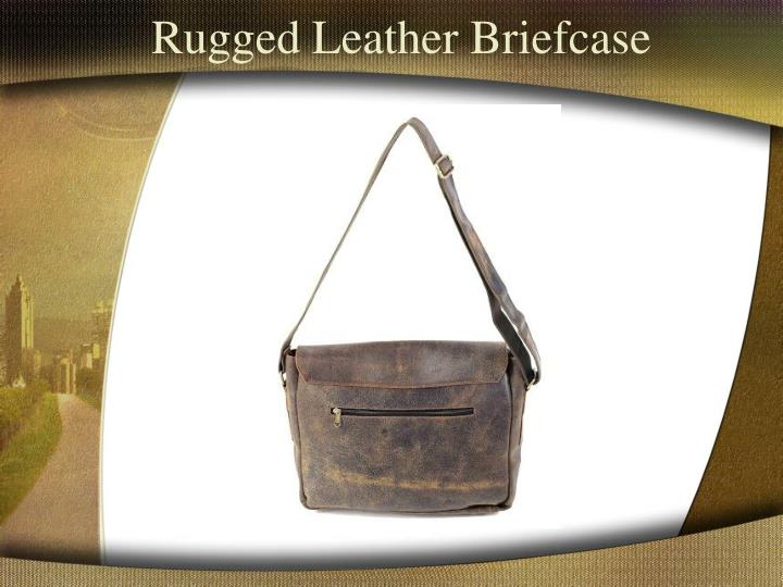 Rugged Leather Briefcase