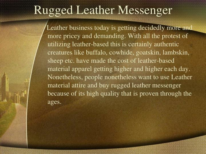 Rugged Leather Messenger