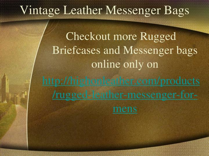 Vintage Leather Messenger Bags