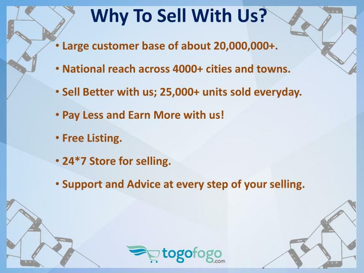 Why to sell with us