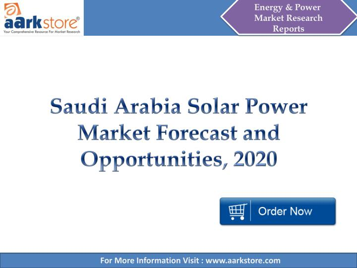 Saudi arabia solar power market forecast and opportunities 2020