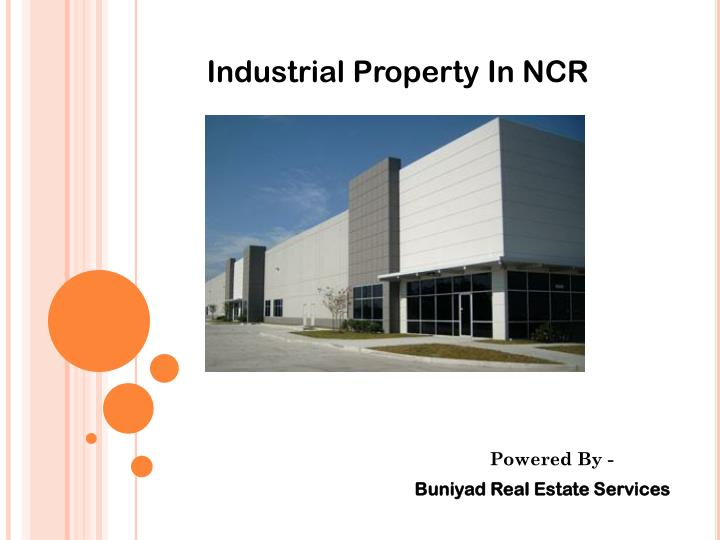 Industrial Property In NCR