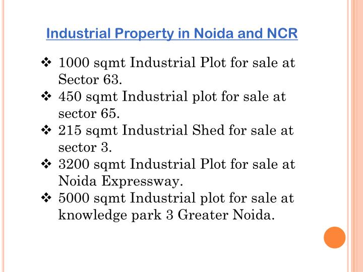 Industrial Property in Noida and NCR