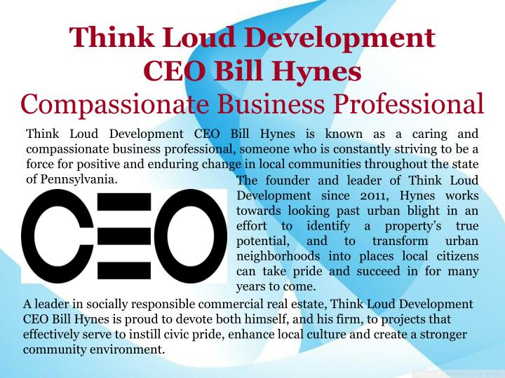 think loud development ceo bill hynes compassionate business professional