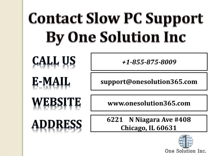 Contact Slow PC Support