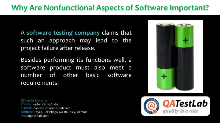 Why Are Nonfunctional Aspects of Software Important?