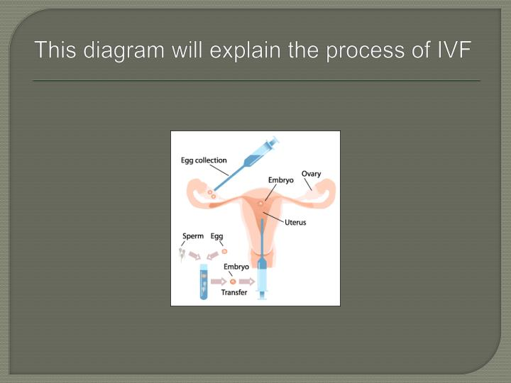 This diagram will explain the process of ivf