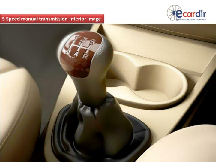 5 Speed manual transmission-Interior Image