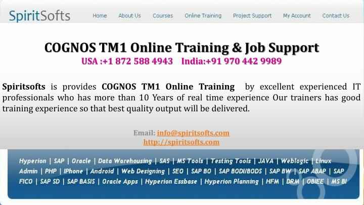 Cognos tm1 online training cognos tm1 job support usa 1 872 588 4943 india 91 970 442 9989