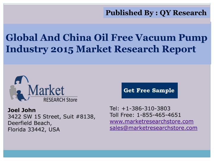Global and china oil free vacuum pump industry 2015 market research report
