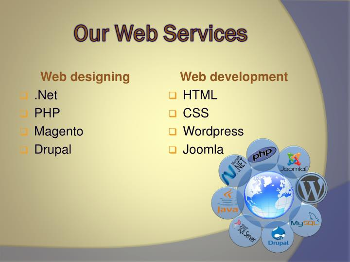 Our Web Services