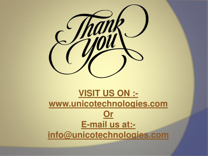 VISIT US ON :-www.unicotechnologies.com