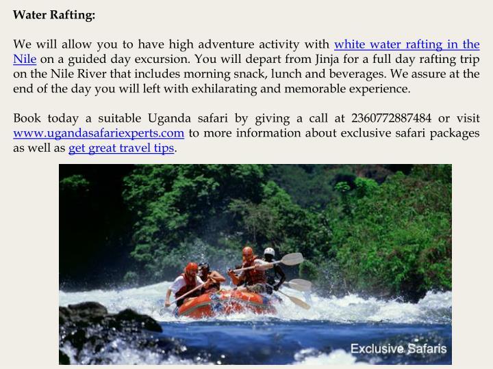 Water Rafting: