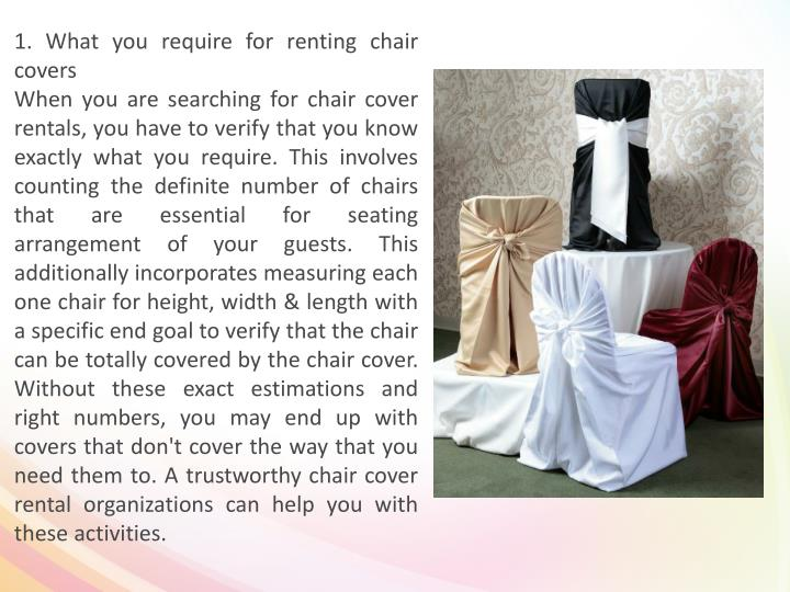 1. What you require for renting chair covers