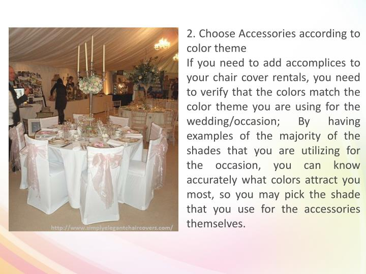 2. Choose Accessories according to color theme