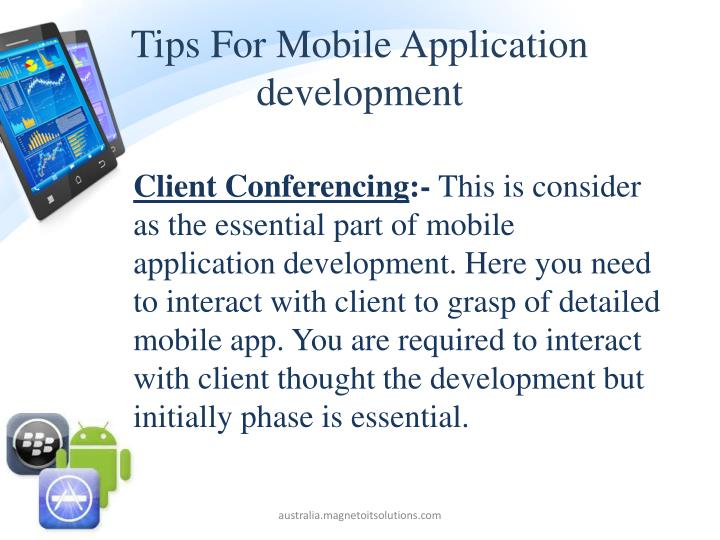 Tips For Mobile Application development
