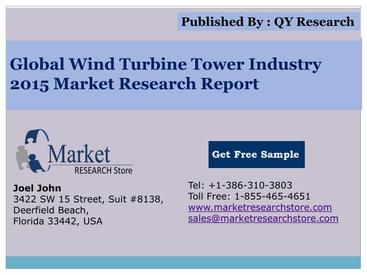 Global wind turbine tower industry 2015 market research report