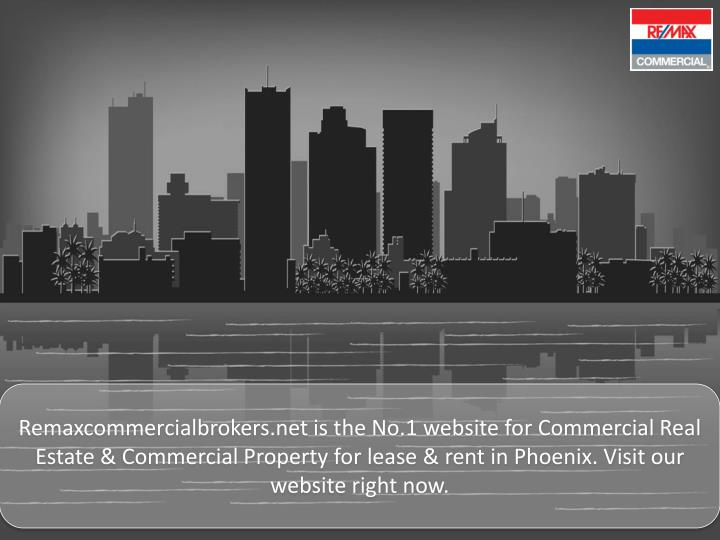 Remaxcommercialbrokers.net is the No.1 website for Commercial Real Estate & Commercial Property for lease