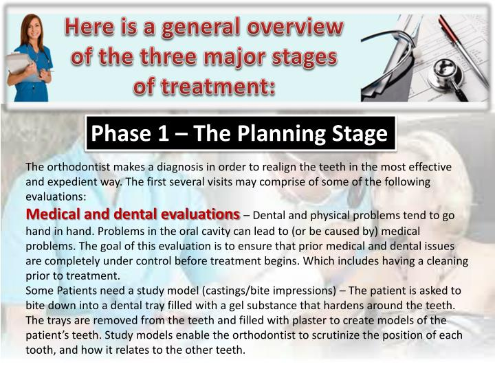 Here is a general overview of the three major stages of treatment: