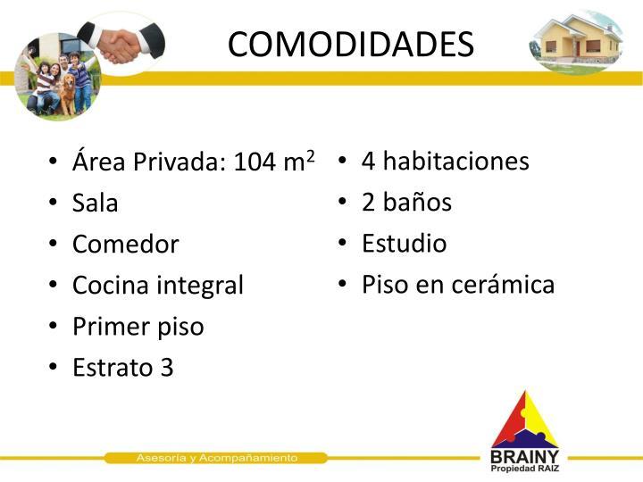 COMODIDADES