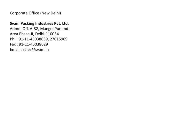 Corporate Office (New Delhi