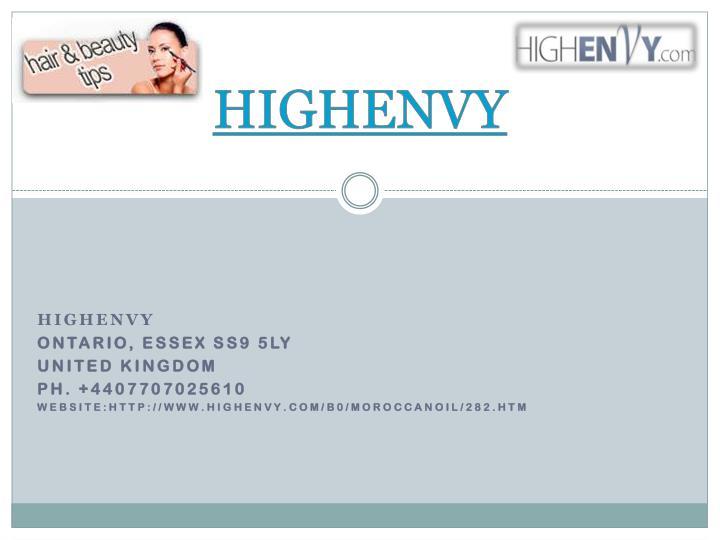 HIGHENVY