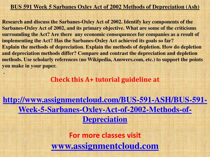 sarbanes oxley act of 2002 paper