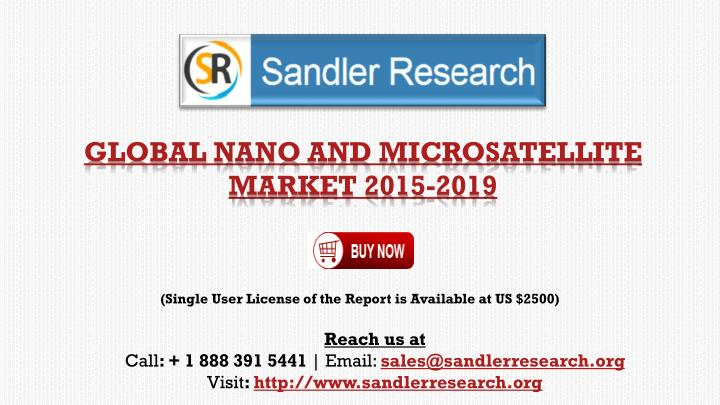 (Single User License of the Report is Available at US $2500)