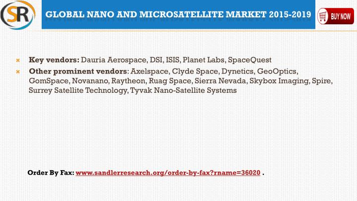 Key vendors: