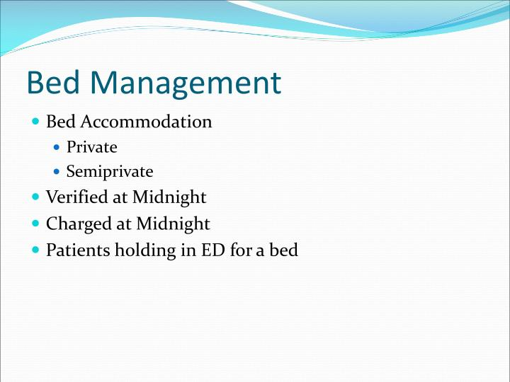 Bed Management