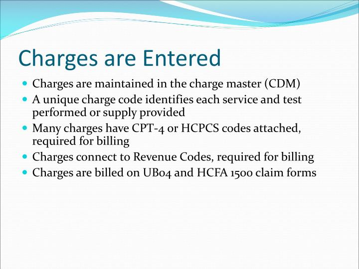 Charges are Entered