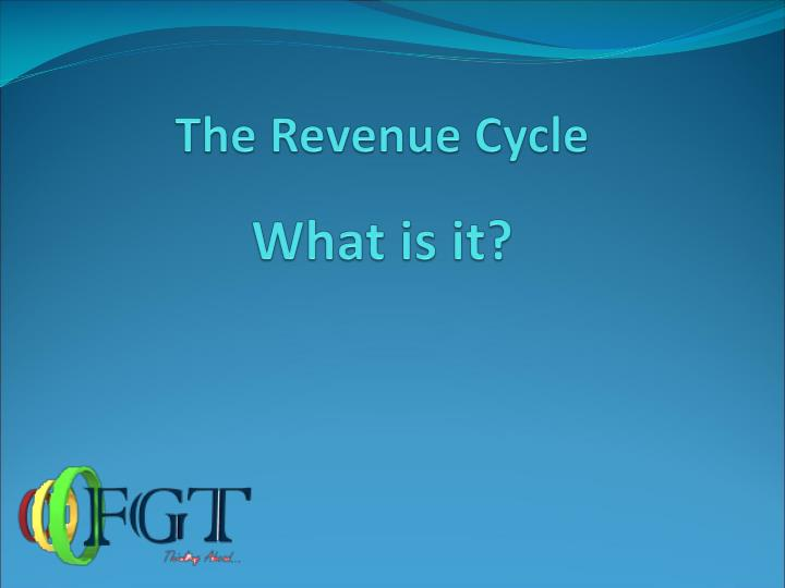 The revenue cycle what is it