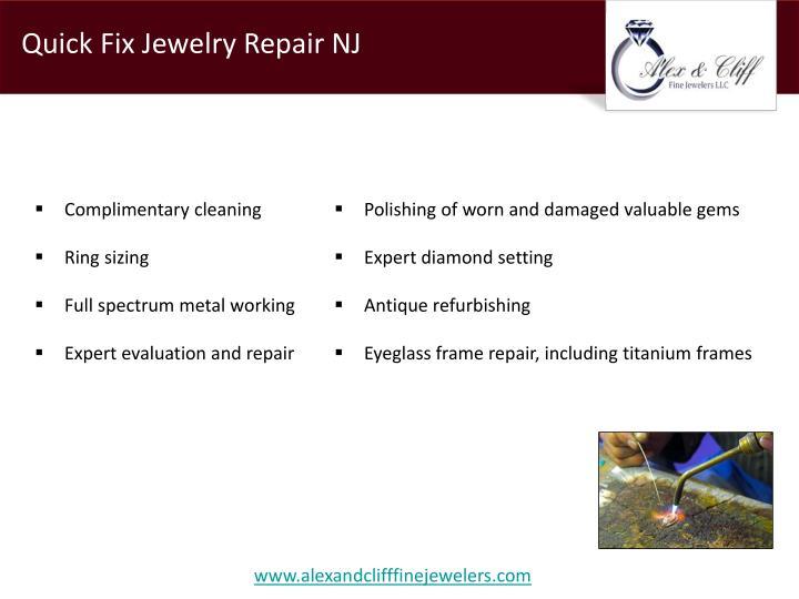 Quick Fix Jewelry Repair NJ