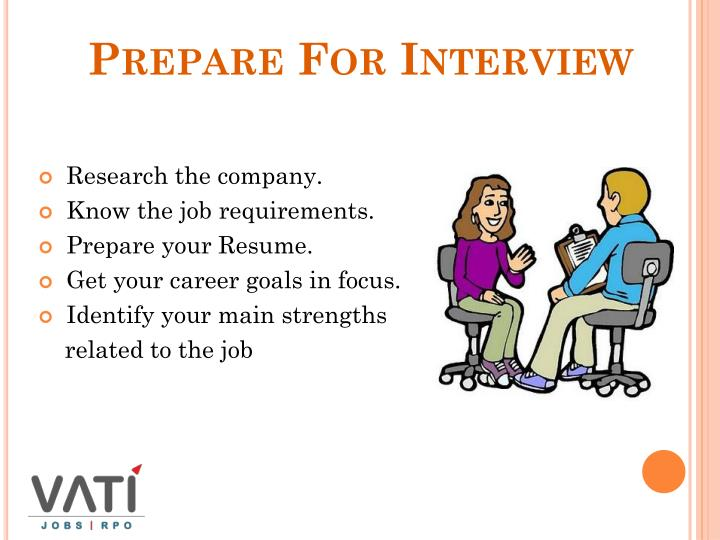 Prepare For Interview
