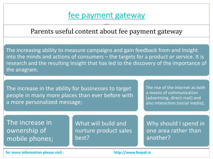 Fee payment gateway