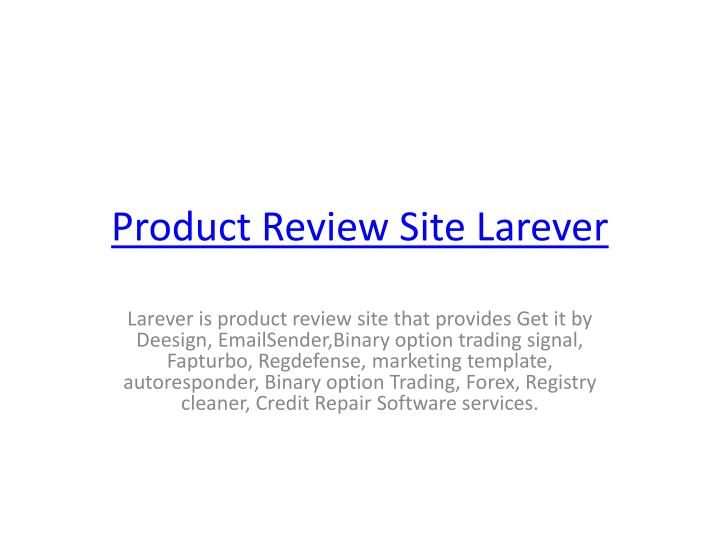 Product Review Site