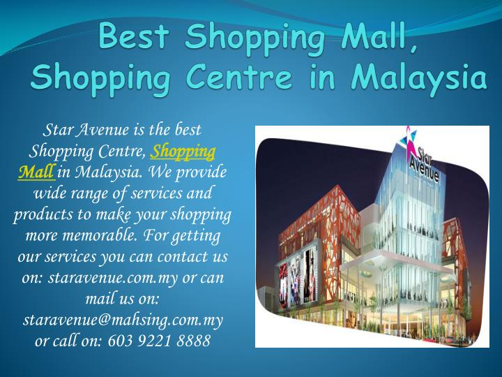 Best shopping mall shopping centre in malaysia