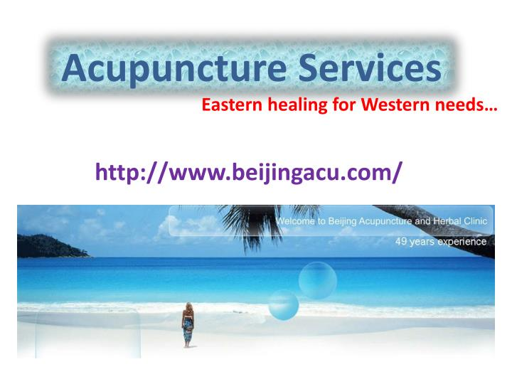 Acupuncture services
