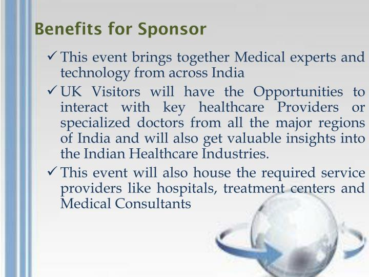 Benefits for Sponsor