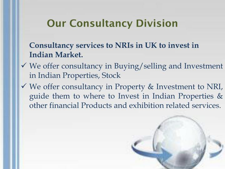 Our Consultancy Division