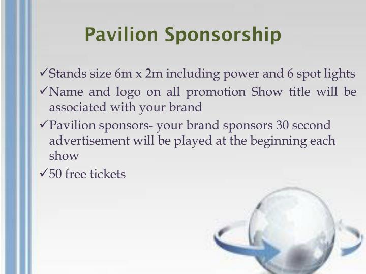 Pavilion Sponsorship