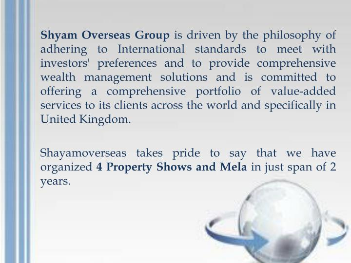 Shyam Overseas Group