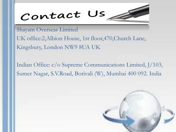 Shayam Overseas Limited