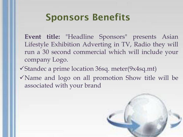 Sponsors Benefits