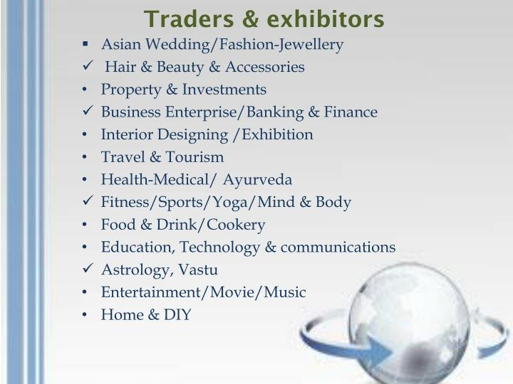 Traders & exhibitors